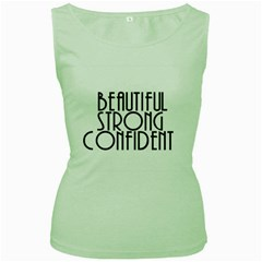 Beautiful Strong Confident  Women s Tank Top (green)