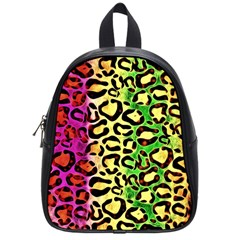 Rainbow Cheetah Abstract School Bag (small)