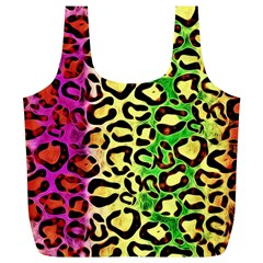 Rainbow Cheetah Abstract Reusable Bag (XL)