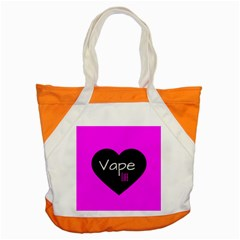 Hot Pink Vape Heart Accent Tote Bag