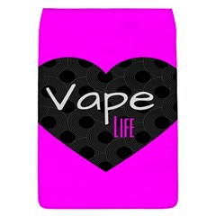Hot Pink Vape Heart Removable Flap Cover (small)