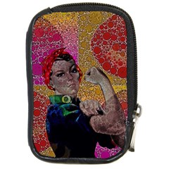Rosie Pop Lips  Compact Camera Leather Case