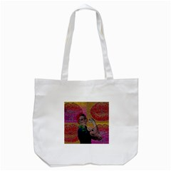 Rosie Pop Lips  Tote Bag (White)