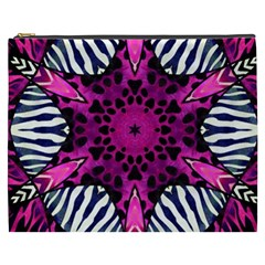 Crazy Hot Pink Zebra  Cosmetic Bag (xxxl)