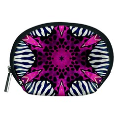 Crazy Hot Pink Zebra  Accessory Pouch (Medium)