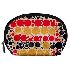 Retro Polka Dots  Accessory Pouch (Large)