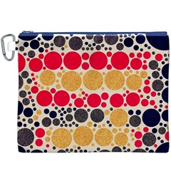 Retro Polka Dots  Canvas Cosmetic Bag (XXXL)