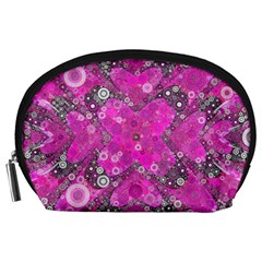 Dazzling Hot Pink Accessory Pouch (Large)