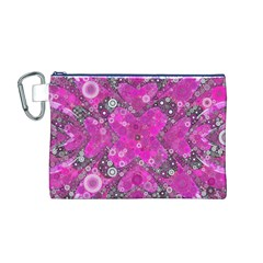 Dazzling Hot Pink Canvas Cosmetic Bag (Medium)