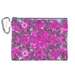 Dazzling Hot Pink Canvas Cosmetic Bag (xl)