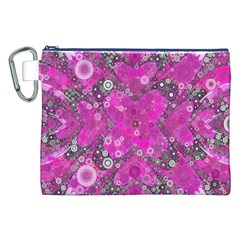 Dazzling Hot Pink Canvas Cosmetic Bag (XXL)