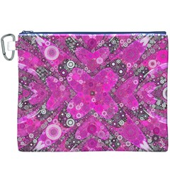 Dazzling Hot Pink Canvas Cosmetic Bag (XXXL)