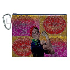 Rosie Pop Lips  Canvas Cosmetic Bag (XXL)