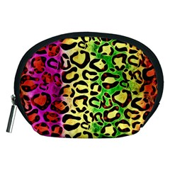 Rainbow Cheetah Abstract Accessory Pouch (Medium)