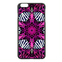 Crazy Hot Pink Zebra  Apple iPhone 6 Plus Black Enamel Case