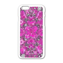 Dazzling Hot Pink Apple iPhone 6 White Enamel Case