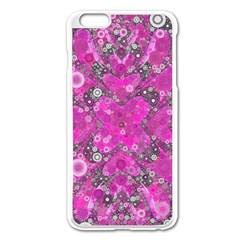 Dazzling Hot Pink Apple iPhone 6 Plus Enamel White Case