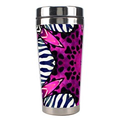 Crazy Hot Pink Zebra  Stainless Steel Travel Tumbler