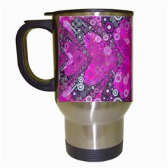 Dazzling Hot Pink Travel Mug (white)