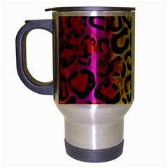 Rainbow Cheetah Abstract Travel Mug (silver Gray)
