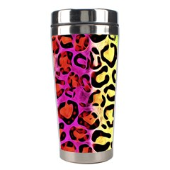 Rainbow Cheetah Abstract Stainless Steel Travel Tumbler