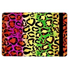 Rainbow Cheetah Abstract Apple iPad Air Flip Case