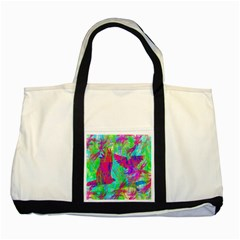 Birds In Flight Two Toned Tote Bag