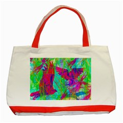 Birds In Flight Classic Tote Bag (Red)