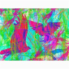 Birds In Flight Canvas 12  X 16  (unframed)