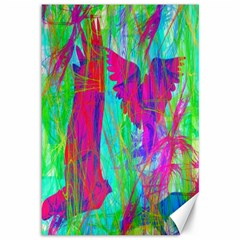 Birds In Flight Canvas 12  X 18  (unframed)