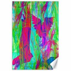 Birds In Flight Canvas 20  x 30  (Unframed)