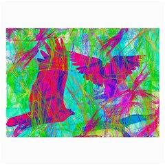 Birds In Flight Glasses Cloth (large, Two Sided)