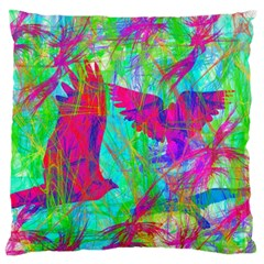 Birds In Flight Large Flano Cushion Case (One Side)