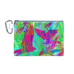 Birds In Flight Canvas Cosmetic Bag (Medium)