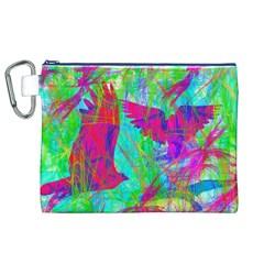 Birds In Flight Canvas Cosmetic Bag (XL)