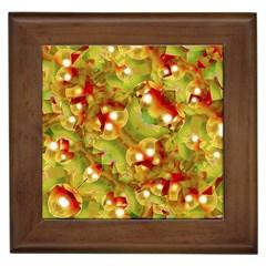 Christmas Print Motif Framed Ceramic Tile