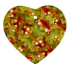 Christmas Print Motif Heart Ornament