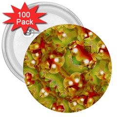 Christmas Print Motif 3  Button (100 Pack)