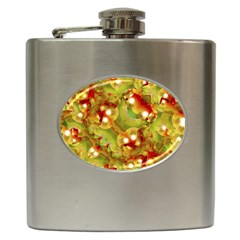 Christmas Print Motif Hip Flask