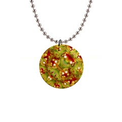 Christmas Print Motif Button Necklace