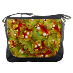 Christmas Print Motif Messenger Bag