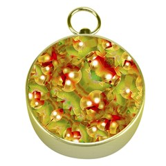 Christmas Print Motif Gold Compass
