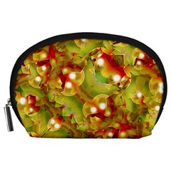 Christmas Print Motif Accessory Pouch (Large)