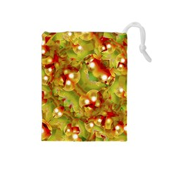 Christmas Print Motif Drawstring Pouch (medium)