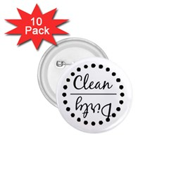 Fridge Magnet Black 1 75  Button (10 Pack)