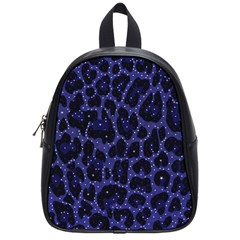 Blue Leapord Bling School Bag (small)