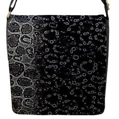 Black Cheetah Abstract Flap Closure Messenger Bag (small)