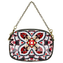 Fashion Girl Red Chain Purse (one Side)