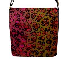 Cheetah Abstract  Flap Closure Messenger Bag (large)