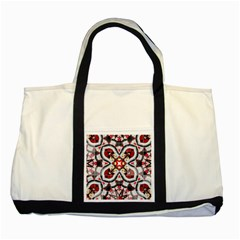 Fashion Girl Red Two Toned Tote Bag